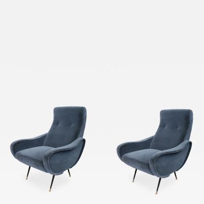 Marco Zanuso Pair of Mid Century Modern Armchairs
