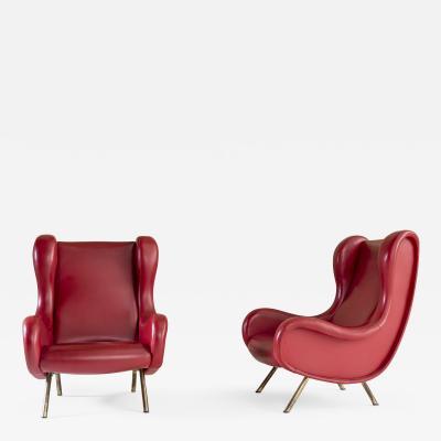 Marco Zanuso Pair of Senior Armchairs by Marco Zanuso for Arflex