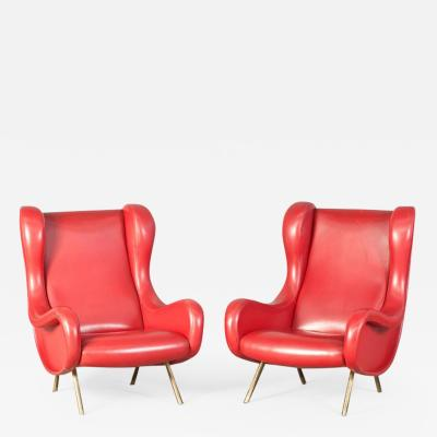 Marco Zanuso Pair of Senior Armchairs by Marco Zanuso for Arflex