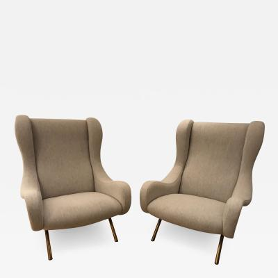 Marco Zanuso Pair of Senior armchairs for Arflex