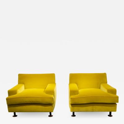 Marco Zanuso Pair of Square armchairs by Marco Zanuso