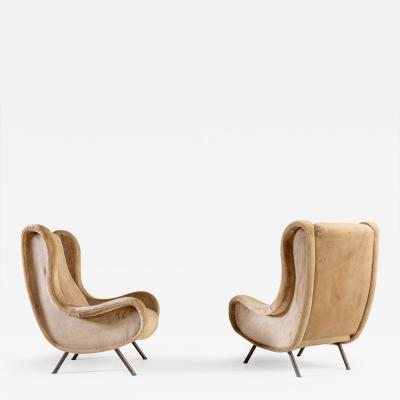 Marco Zanuso Senior armchairs by Marco Zanuso for Artflex