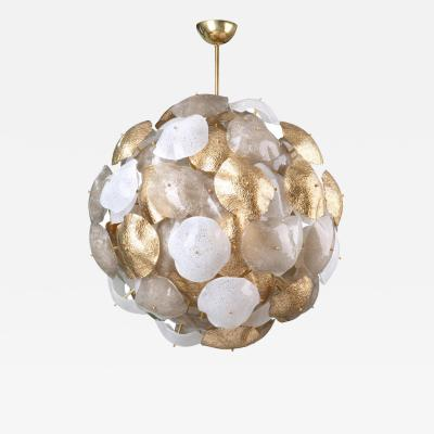 Mare Murano Glass Sputnik Chandelier with 24 Carat Gold Leaf
