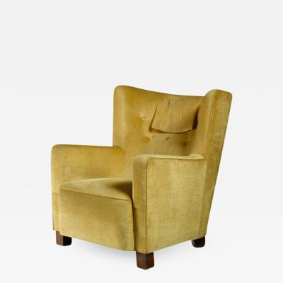 Margareta K hler Margareta K hler yellow club chair Sweden 1930s