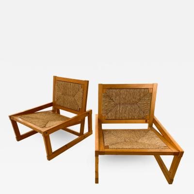 Margarita Brender Pair of Margarita Brender Slipper Chairs circa 1960 Spain