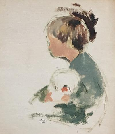 Margery Austen Ryerson Boy With a Goldfish Bowl