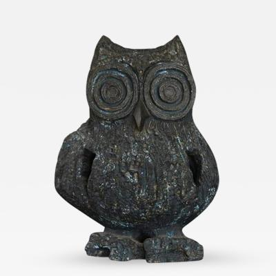 Margot Kempe Large Brutalist Ceramic Owl Sculpture by Margot Kempe 1960s