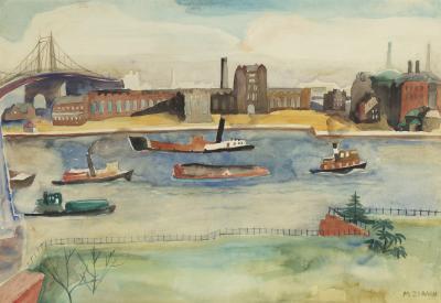 Marguerite T Zorach East River ca 1920s