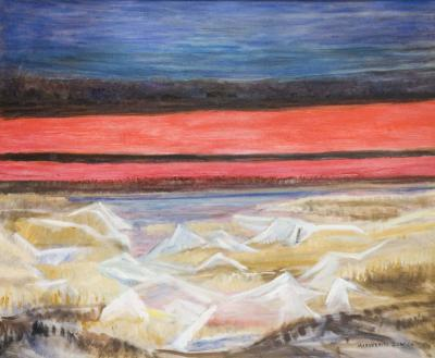 Marguerite T Zorach Frozen Marshes At Dawn ca 1957