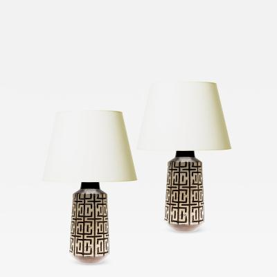 Mari Simmulsson Pair of LABYRINT table lamps by Mari Simmulsson