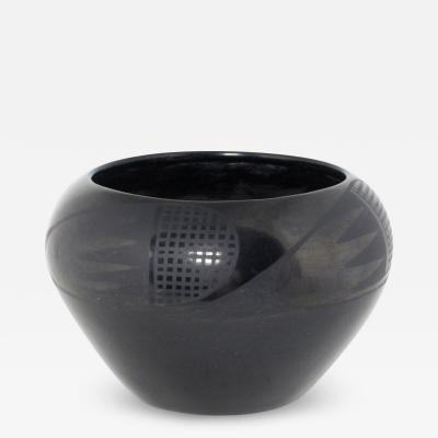 Maria Montoya Martinez San Ildefonso black on black jar by Maria Martinez