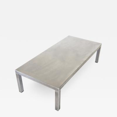 Maria Pergay Maria Pergay Created With Marina Varenne Brushed Stainless Steel Coffee Table