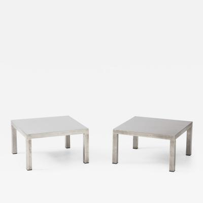 Maria Pergay Maria Pergay Pair of Low Tables Table Droite Maison et Jardin Paris 1971