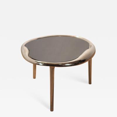 Maria Pergay Modern chrome End Table style of Maria Pergay 1980s