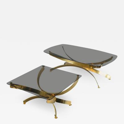 Maria Pergay Pair of Glass Coffee Tables in the Style of Maria Pergay