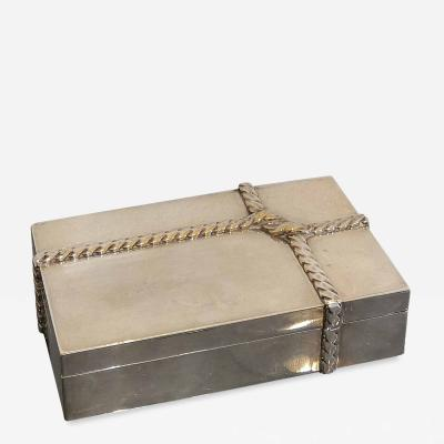 Maria Pergay Petite silver plated box by Maria Pergay France 1970s