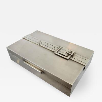 Maria Pergay Vintage Maria Pergay Silver Plated Buckle Box