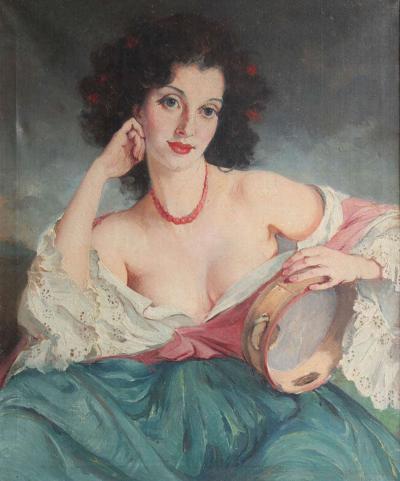 Maria Szantho Maria Szantho Woman with Tambourine 1930 s