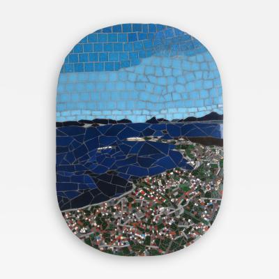 Mariana Lloyd One of a Kind Contemporary Mosaic ML0218 by Brazilian Artist Mariana Lloyd 2020