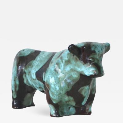 Marianna Von Allesch Mid Century Ceramic Bull Sculpture