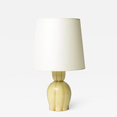 Marianne Brandt Table lamp with ombre striation by Marianne Brandt