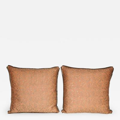 Mariano Fortuny A Pair of Fortuny Fabric Cushions in the Granada Pattern