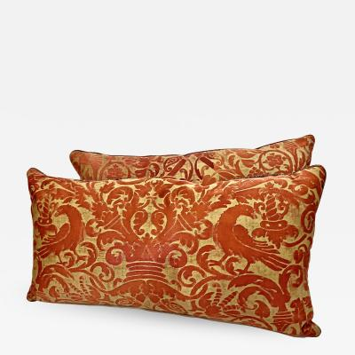 Mariano Fortuny Pair antique Fortuny Pillows c 1925 1930