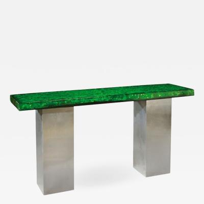 Marie Claude Fouquieres Resin Top Console by Marie Claude Fouquieres