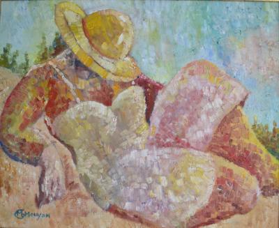 Marie Helene Mouyon On The Beach