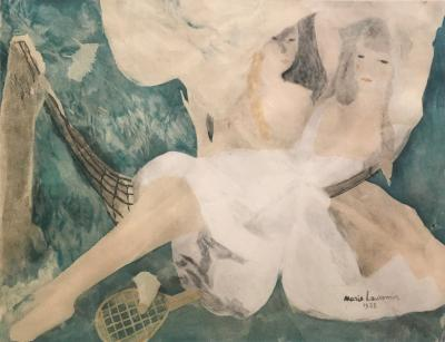 Marie Laurencin La femme au hamac Jacques Villon after Marie Laurencin Aquatint on Paper 1924