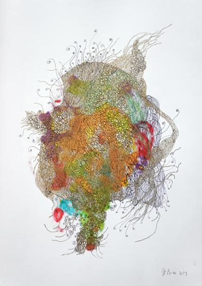 Marie Pierre Biau SANS TITRE 42 X 29 6 Contemporary drawing