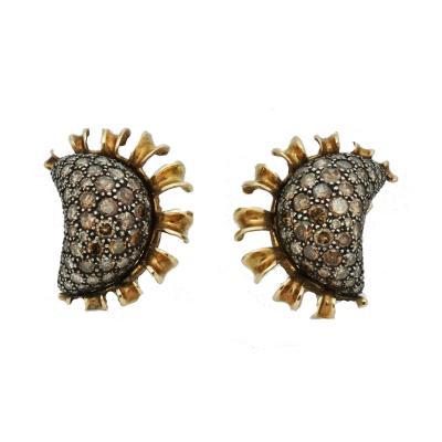 Marilyn Cooperman Fancy Brown Diamond Earrings