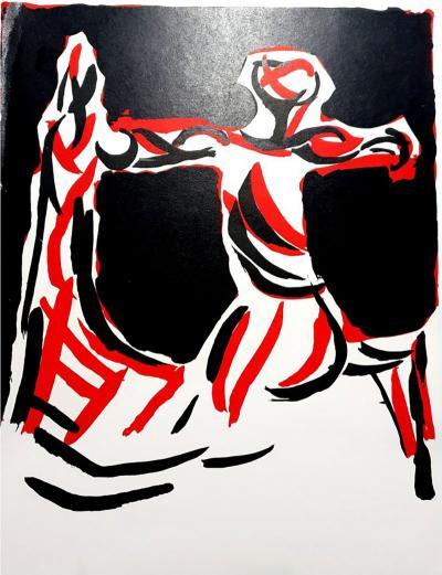Marino Marini Marino Marini Knight Original Lithograph 1968