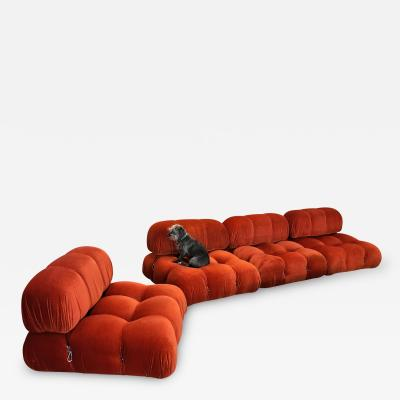 Mario Bellini 1970S ORANGE CAMALEONDA 4 SECTIONAL SOFAS BY MARIO BELLINI Italy