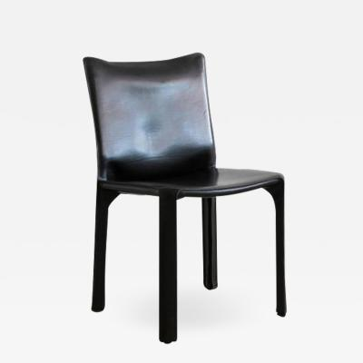 Mario Bellini BLACK LEATHER CAB CHAIRS BY MARIO BELLINI FOR CASSINA