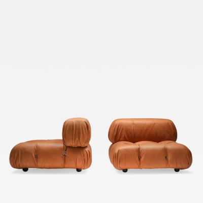 Mario Bellini Camaleonda Lounge Chairs in new cognac leather by Mario Bellini 1970s