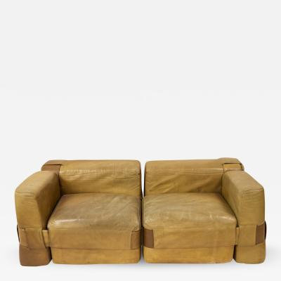 Mario Bellini Leather Sofa by Mario Bellini circa 1970