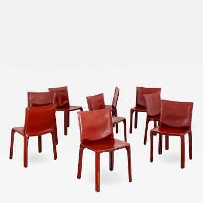 Mario Bellini MARIO BELLINI CAB CHAIRS IN CARAMEL LEATHER