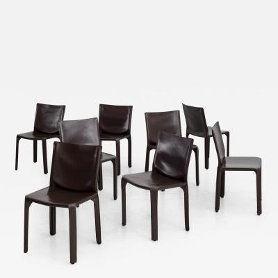 Mario Bellini MARIO BELLINI CAB CHAIRS IN CHOCOLATE LEATHER