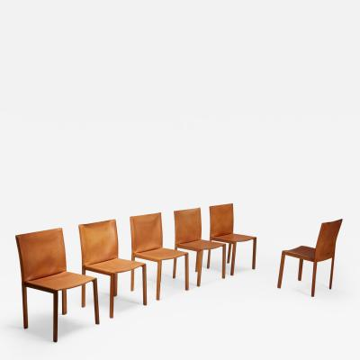 Mario Bellini Mario Bellini CAB leather dining chairs for Cassina Italy 1977