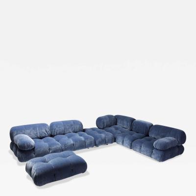 Mario Bellini Mario Bellini Camaleonda Sectional Sofa in Blue Velvet 1970s