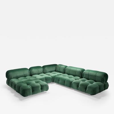 Mario Bellini Mario Bellini Camaleonda in Pierre Frey Velvet Green Upholstery 1970s