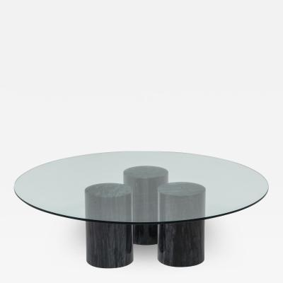 Mario Bellini Mario Bellini Collonato Black Marble Coffee Table 1970s
