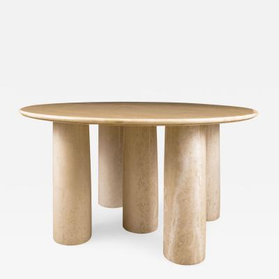 Mario Bellini Mario Bellini Il Colonnato Cream Color Marble Table for Cassina