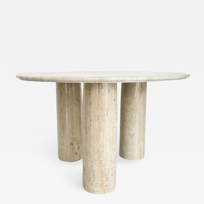 Mario Bellini Mario Bellini Italian Travertine Il Colonnato Dining Table for Cassina