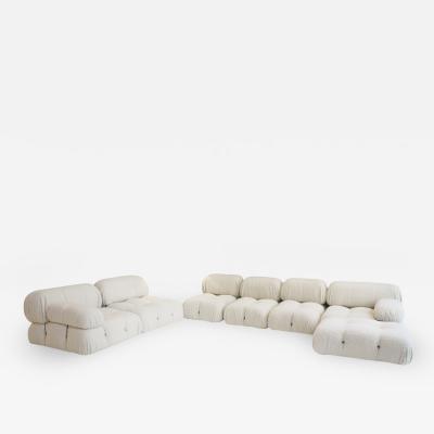 Mario Bellini Mario Bellini for B B Italia Camaleonda White Boucl Fabric Modular Sofa