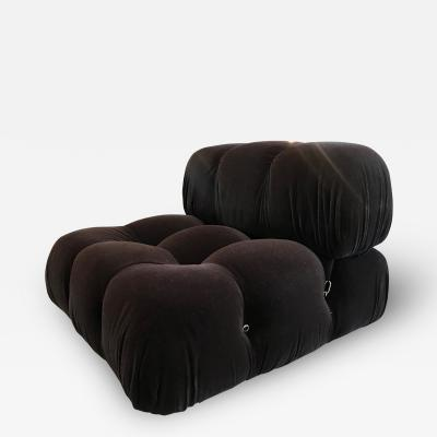 Mario Bellini Mario Bellini in Brown Mohair Original Fabric Camaleonda Modular Sofa