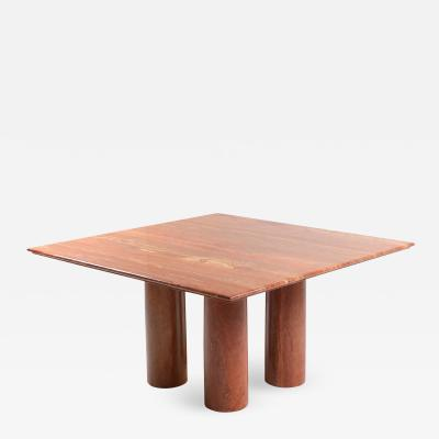 Mario Bellini Mario Bellinis Red Travertine Il Collonato Dining Table 1970s