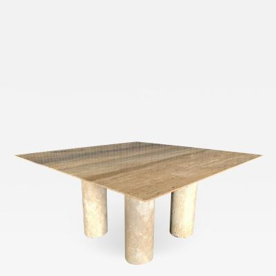Mario Bellini Monumental Travertine Dining Table after Mario Bellini
