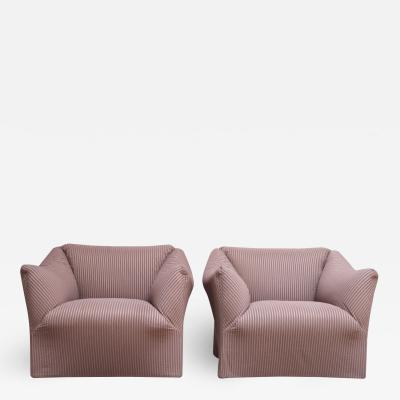 Mario Bellini Pair 1970s Wide Tentazione Club Chairs by Mario Bellini for Cassina